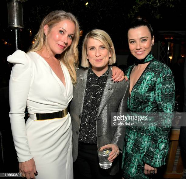 Christina Applegate Liz Feldman and Linda Cardellini attend the premiere of Netflix's 'Dead to Me' at The Bungalow on May 02 2019 in Santa Monica...