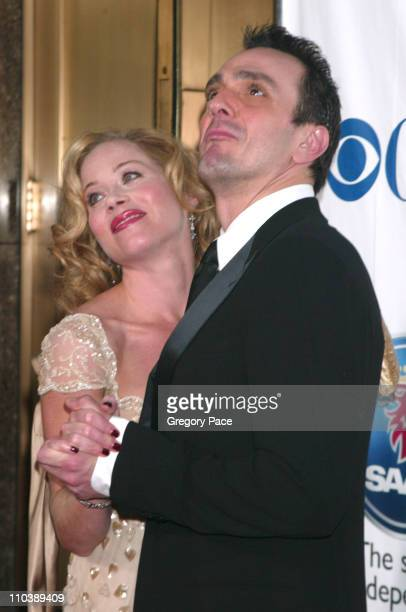 Christina Applegate nominee Best Performance by a Leading Actress in a Musical for Sweet Charity and Hank Azaria nominee Best Performance by a...