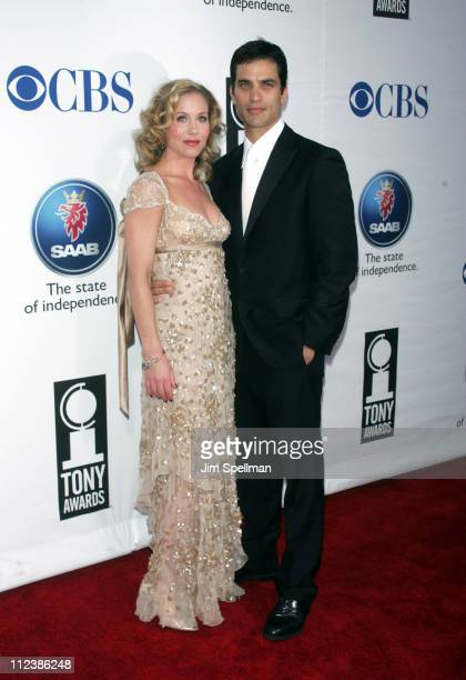 Christina Applegate nominee Best Performance by a Leading Actress in a Musical for 'Sweet Charity' and Johnathon Schaech