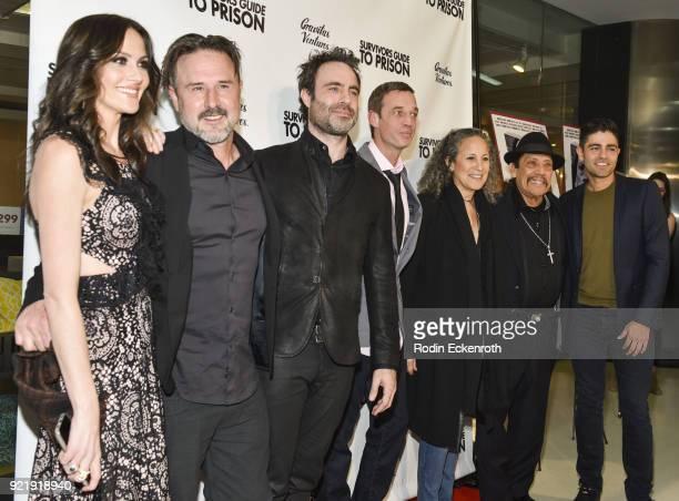 Christina Arquette David Arquette Matthew Cooke Steve DeVore Gina Belafonte Danny Trejo and Adrian Grenier attend the premiere of Gravitas Pictures'...