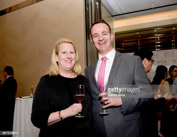 Christina Baltz and Robert GordonBrown attend Launch Of New Entity Withers Global Advisors at 432 Park Avenue on April 3 2018 in New York City...