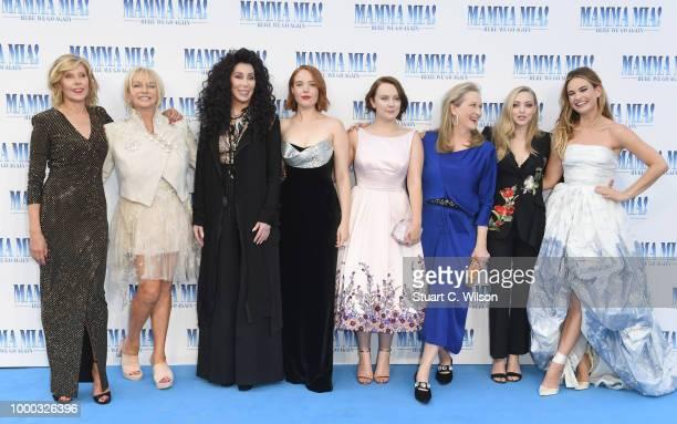 Christina Baranski Judy Cramer Cher Jessica Keenan Wynn Alexa Davies Meryl Streep Amanda Seyfried and Lily James attend the Mamma Mia Here We Go...