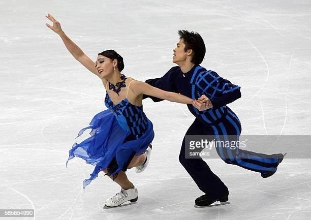 Christina Beier und William Beier Olympische Winterspiele 2010 in Vancouver Eiskunstlauf Eistanz Kur Olympic Winter Games 2010 Figure skating Ice...