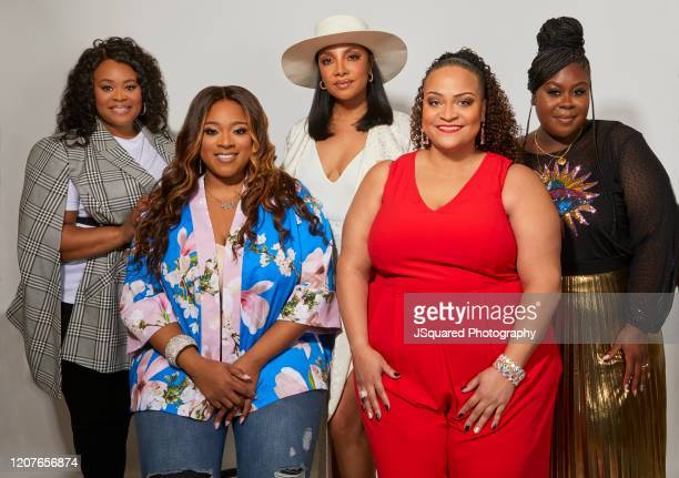 Christina Bell Kierra Sheard Sheléa Frazier Angela Birchett and Raven Goodwin of Lifetime's The Clark Sisters First Ladies of Gospel pose for a...