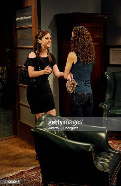 Christina Bennett Lind and Alicia Minshew in a scene that airs the week of September 27 2010 on ABC Daytime's 'All My Children' 'All My Children'...