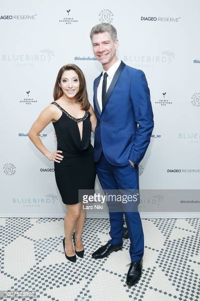 Christina Bianco and Billy Ernst attend the Bluebird London New York City launch party at Bluebird London on September 5, 2018 in New York City.