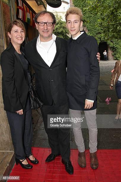 Christina Bock, Director Rainer Bock and son Moritz Bock attend the 'Bornholmer Strasse' Premiere as part of Filmfest Muenchen 2014 on June 28, 2014...