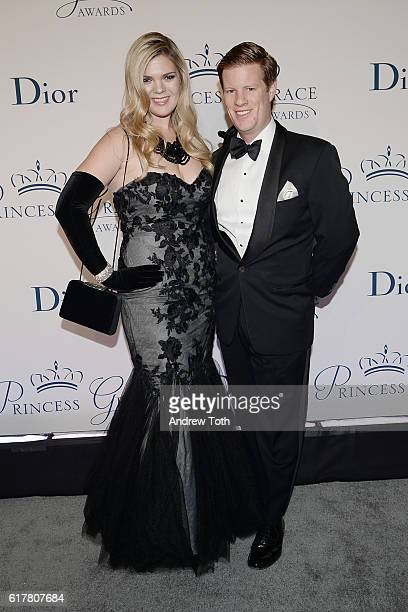 Christina Bott and John Murphy attend the 2016 Princess Grace Awards Gala with presenting sponsor Christian Dior Couture at Cipriani 25 Broadway on...