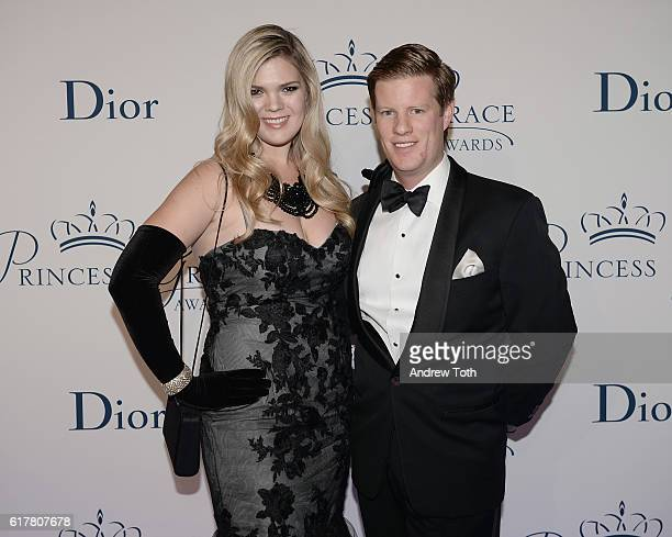 Christina Bott and John Murphy attends the 2016 Princess Grace Awards Gala with presenting sponsor Christian Dior Couture at Cipriani 25 Broadway on...