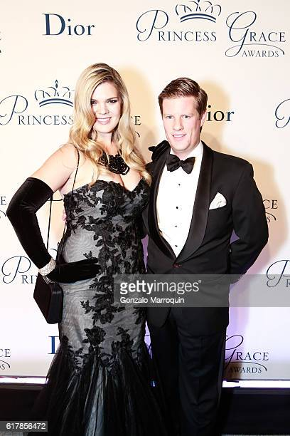 Christina Bott and John Murphy III at the 2016 Princess Grace Awards Gala at Cipriani 25 Broadway on October 24 2016 in New York City