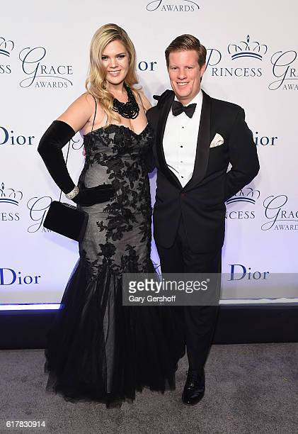 Christina Bott and John Murphy lll attend the 2016 Princess Grace Awards Gala at Cipriani 25 Broadway on October 24 2016 in New York City