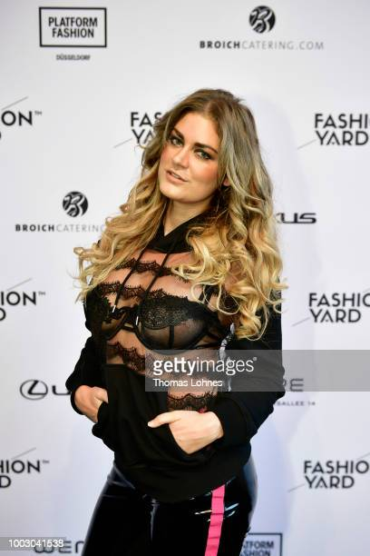 Christina Braun attends the Fashionyard show during Platform Fashion July 2018 at Areal Boehler on July 21 2018 in Duesseldorf Germany