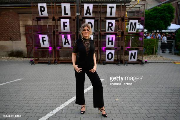 Christina Braun attends the 'The NRW Design Issue' show during Platform Fashion July 2018 at Areal Boehler on July 22 2018 in Duesseldorf Germany