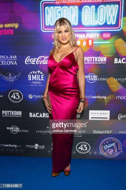 Christina Braun is seen during the McWonderland Neon Glow Christmas Party on November 25 2019 in Essen Germany