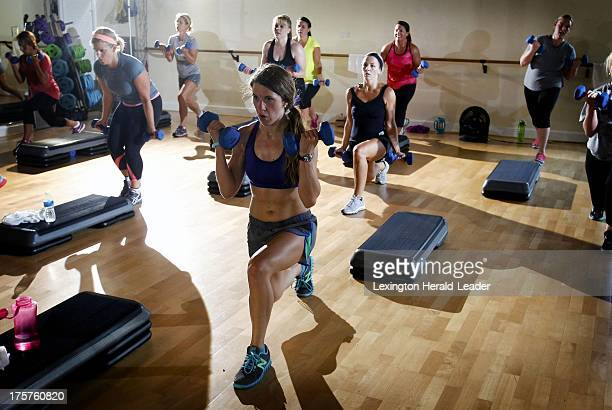 Christina Breeding works hard during a highintensity interval training class on July 22 in Lexington Kentucky Highintensity workouts are a national...