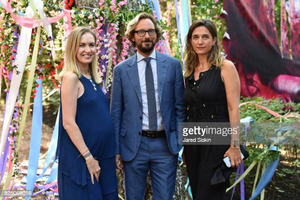 Christina Buckley Nicolas Bos and Vanessa Von Bismarck attend The 24th Annual Watermill Center Summer Benefit Auction at The Watermill Center on July...