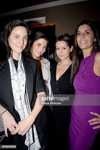 Christina Caldwell Estefania Lacayo Jamie Stoll and Lucia Tait attend COUP de COEUR Celebrates the Holidays with Shopping and Cocktails at FELICE...
