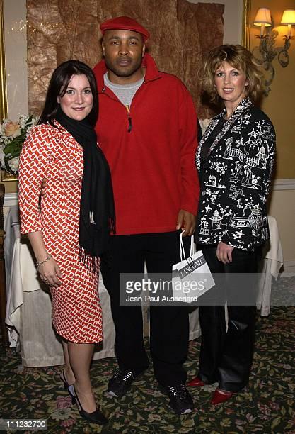 Christina Carathanassis Lancome PR manager Mathew St Patrick and makeup artist Sharon Hagen
