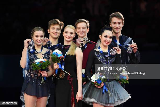 Christina Carreira and Anthony Ponomarenko of the USA Anastasia Skoptcova and Kirill Aleshin of Russia and Sofia Polishchuk and Alexander Vakhnov of...