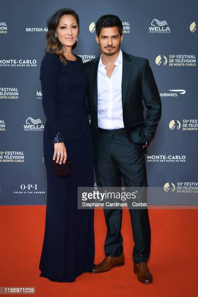 Christina Chang and Nicholas Gonzalez attend the opening ceremony of the 59th Monte Carlo TV Festival on June 14, 2019 in Monte-Carlo, Monaco.