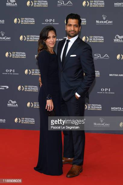 Christina Chang and Soam Lall attend the opening ceremony of the 59th Monte Carlo TV Festival on June 14 2019 in MonteCarlo Monaco