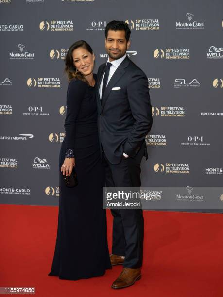 Christina Chang and Soam Lall attend the opening ceremony of the 59th Monte Carlo TV Festival on June 14, 2019 in Monte-Carlo, Monaco.