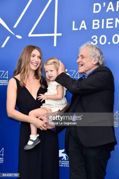 Christina Chiriac Ferrara Anna Ferrara and Abel Ferrara attend the 'Piazza Vittorio' photocall during the 74th Venice Film Festival at Sala Casino on...