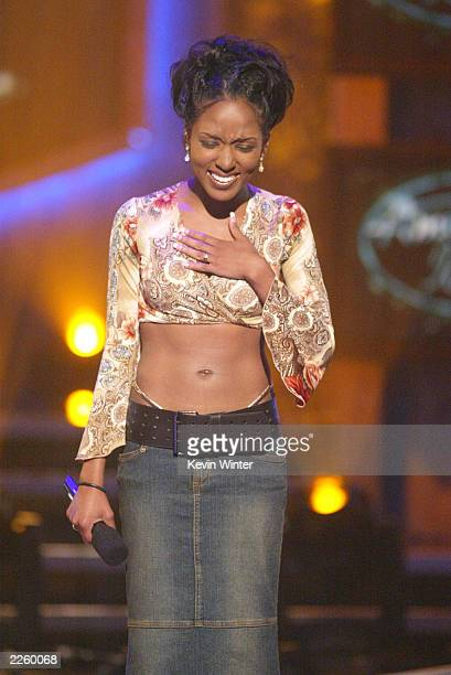 Christina Christian at FOX TV's American Idol broadcast live from Television City in Los Angeles Ca Tuesday July 16 2002 Photo by Kevin...