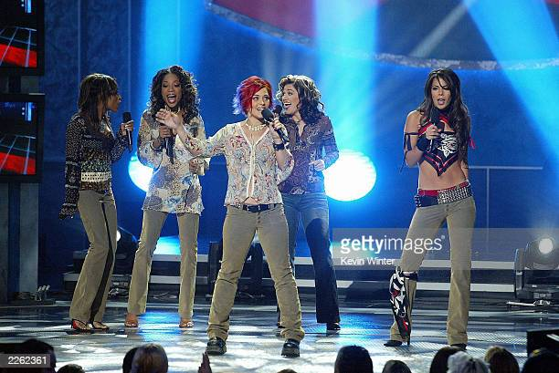"Christina Christian , Tamyra Gray, Nikki McKibbin, Kelly Clarkson and Ryan Starr at FOX-TV's ""American Idol"" finale at the Kodak Theatre in..."