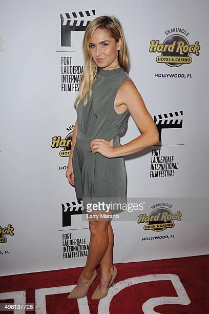 Christina Collard attends the Fort Lauderdale International Film Festival Opening Night at Seminole Hard Rock Hotel on November 6 2015 in Hollywood...