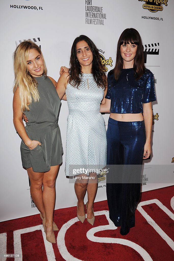 Christina Collard, Shanra Kehl and Serena Hendrix attend the Fort Lauderdale International Film Festival - Opening Night at Seminole Hard Rock Hotel on November 6, 2015 in Hollywood, Florida.
