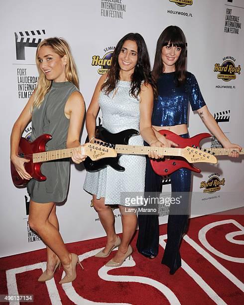Christina Collard Shanra Kehl and Serena Hendrix attend the Fort Lauderdale International Film Festival Opening Night at Seminole Hard Rock Hotel on...