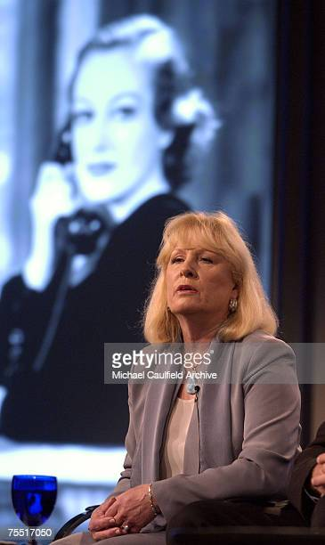 Christina Crawford speaks about Turner Classic Movies original documentary Joan Crawford The Ultimate Movie Star at the The Ritz Carlton Hotel in...