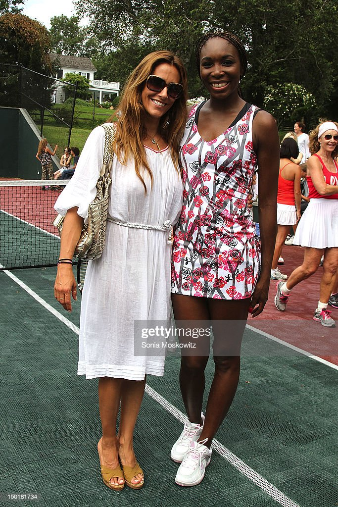 Christina Cuomo amd Venus Williams attend the EleVen by Venus Williams party on August 11, 2012 in Southampton, New York.