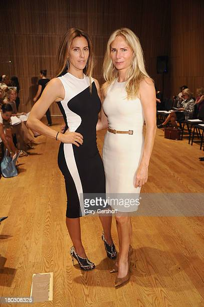 Christina Cuomo and Valesca Hermes attend the Douglas Hannant show during Spring 2014 Mercedes-Benz Fashion Week at DiMenna Center on September 11,...