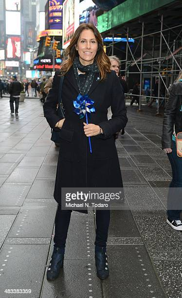 Christina Cuomo attends The Big Pinwheel Garden In NYC For Child Abuse Prevention Month at Times Square Broadway Plaza on April 8 2014 in New York...