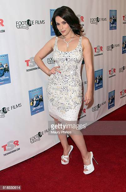 """Christina De Rosa attends """"Weekend With The Family"""" - Los Angeles Premiere on March 30, 2016 in Los Angeles, California."""