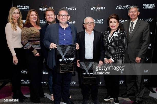 Christina Derenthal Kristen Cavanaugh James Corden Lucian Grainge Irving Azoff Donelle Dadigan and Leron Gubler attend The Hollywood Chamber's 7th...