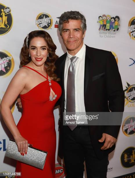 Christina DeRosa and Easi Morales arrive at Charmaine Blake and Hollywood Tribute Oscar Viewing Dinner to benefit the Faber Ryan Youth Foundation at...