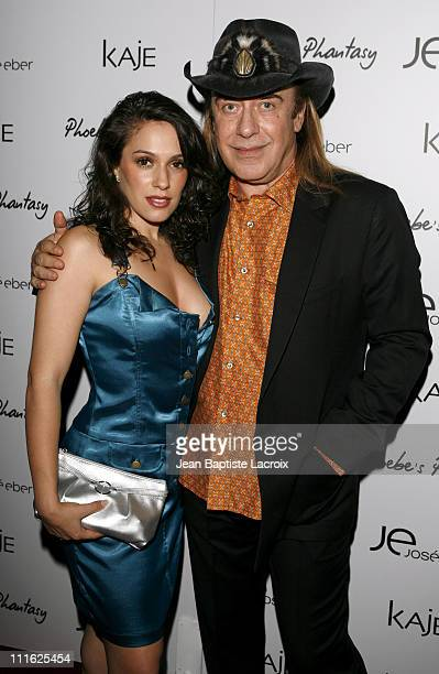 Christina DeRosa and Jose Eber during Phoebe Price Launches Phoebe's Phantasy by Lotion Glow at Kaje Store in Beverly Hills California United States