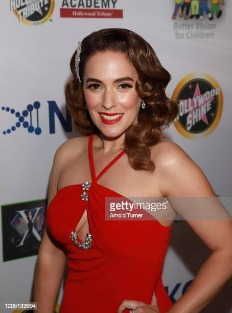 Christina DeRosa arrives at Charmaine Blake and Hollywood Tribute Oscar Viewing Dinner to benefit the Faber Ryan Youth Foundation at The Beverly...