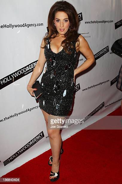 Christina DeRosa arrives at The Hollywood Agency 2012 People's Choice Awards at Club Nokia at L.A. Live on January 11, 2012 in Los Angeles,...