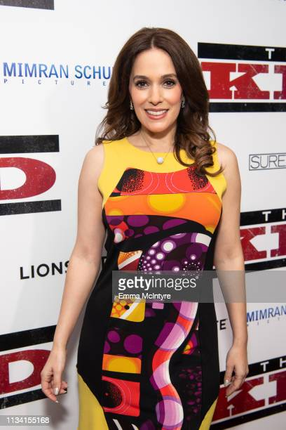 Christina Derosa arrives at the premiere of Lionsgate's 'The Kid' at ArcLight Hollywood on March 06 2019 in Hollywood California