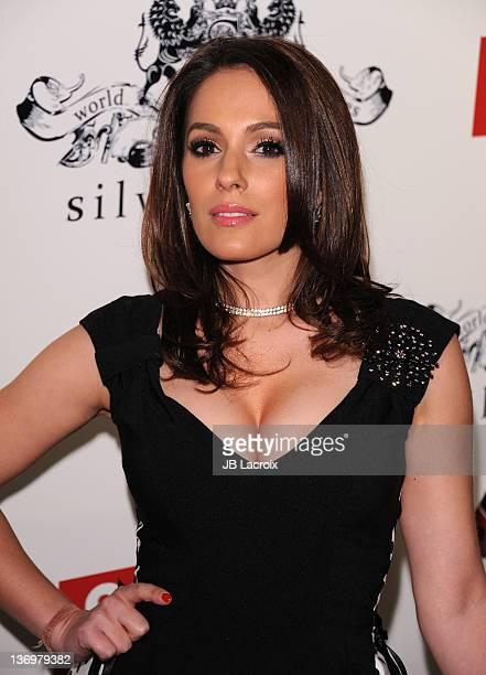 Christina DeRosa arrives at the Screen International Pre-Golden Globes Party at Silver Spoon on January 13, 2012 in Los Angeles, California.