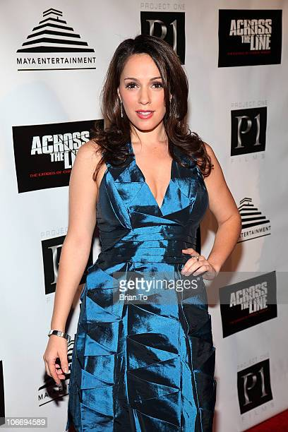 """Christina DeRosa attends """"Across The Line: The Exodus Of Charlie Wright"""" - Los Angeles premiere at Laemmle Sunset 5 Theatre on November 10, 2010 in..."""