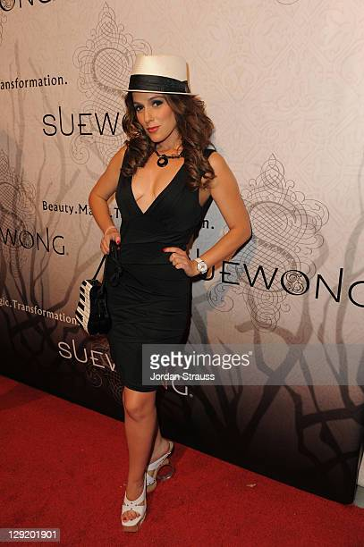 """Christina DeRosa attends Sue Wong Presents """"Lady Or Vamp"""" Spring 2012 Fashion Preview at Voyeur on October 13, 2011 in West Hollywood, California."""