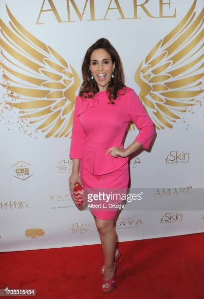 """Christina DeRosa attends the Cover Release Of """"Amare Legacy Issue"""" held at Sofitel Los Angeles At Beverly Hills on September 16, 2021 in Los Angeles,..."""