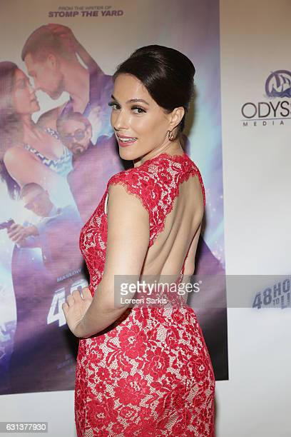 """Christina Derosa attends the premiere of Gravitas Pictures' """"48 Hours To Live"""" at TCL Chinese 6 Theatres on January 9, 2017 in Hollywood, California."""