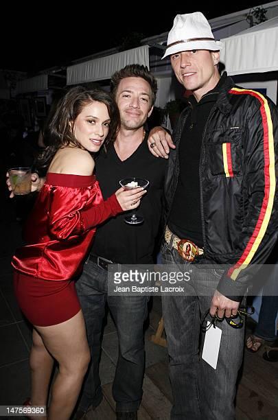 Christina DeRosa, David Faustino and Corin Nemec during Rock and Shop for MS at Sky Bar at the Mondrian in Hollywood, California, United States.
