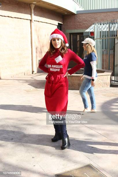 Christina DeRosa is seen on December 21 2018 in Los Angeles CA